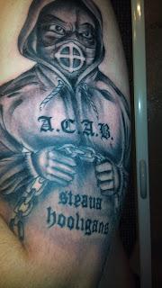 steaua: tattoo Steaua hooligans