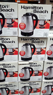 Hamilton Beach Stainless Steel Electric Kettle (model 40989E) makes it easy to boil water quickly and safely
