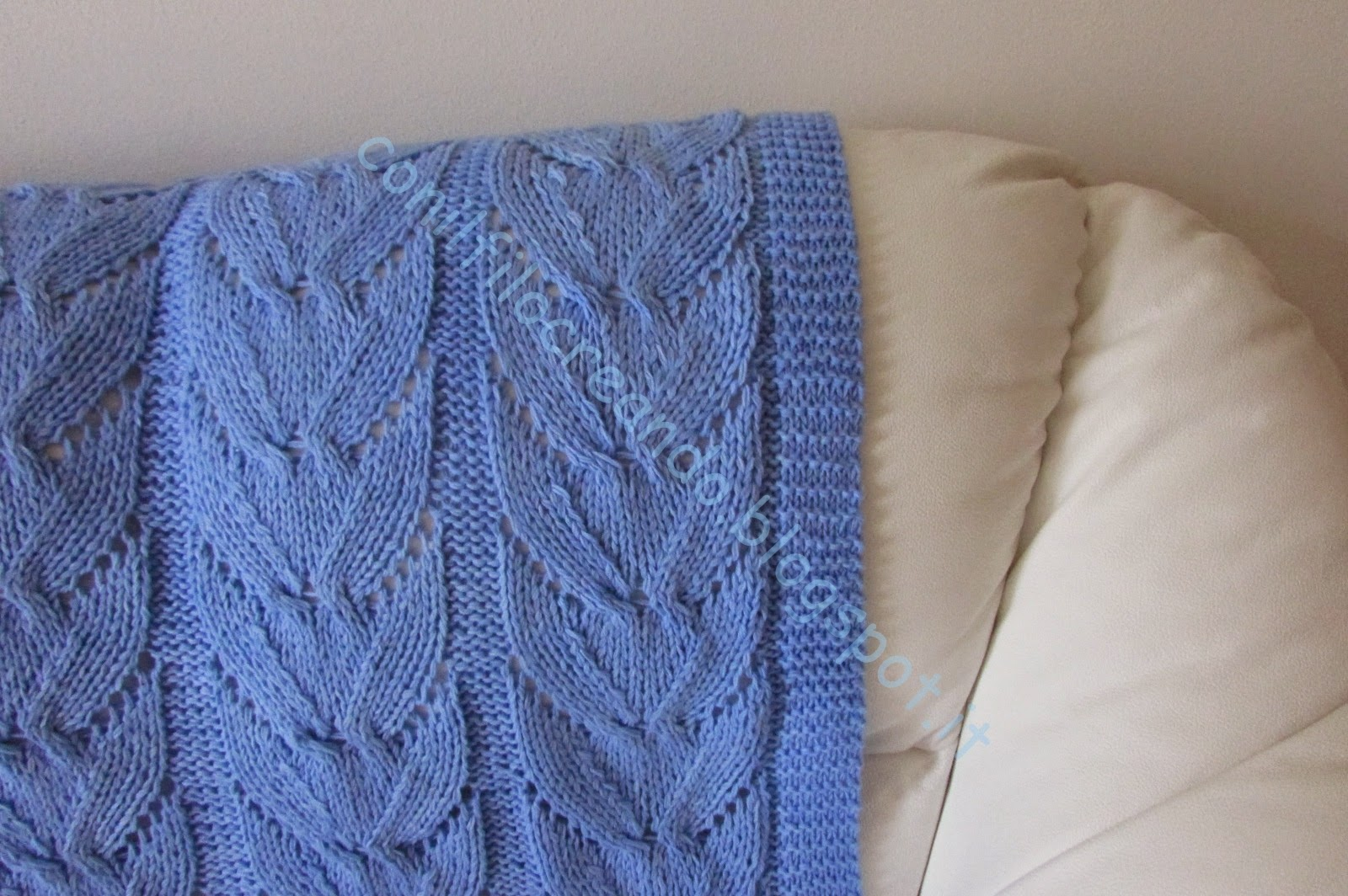 Ben noto copertine neonato lettino in lana fatta a mano ai ferri HR96