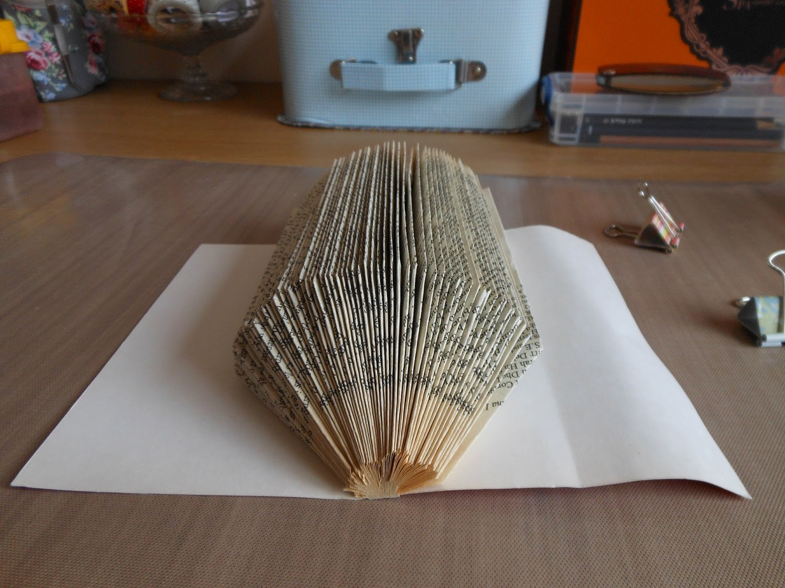 How To Make A Book Hedgehog : Frayed round the edges book hedgehog tutorial