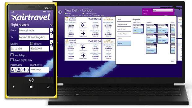 airtravel Windows app
