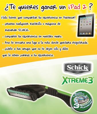 premio ipad 2 promocion Schick Gánate un iPad 2 Mexico 2011