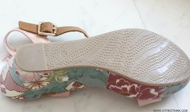 Esprit summer sandals with Japanese print