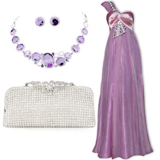 Gorgeous Lilac Princess One Shoulder Empire Sleeveless Prom Dress