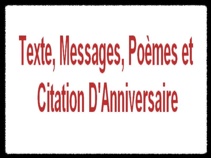 Poème Et Texte Danniversaire Messages Damour