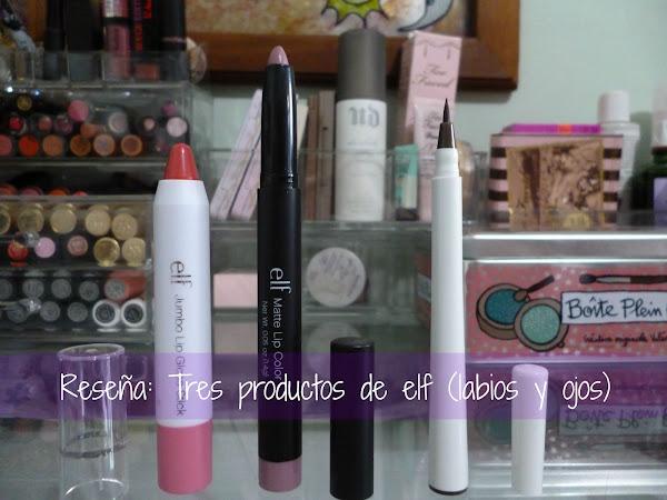 Reseña: Tres productos de elf (labios y ojos)