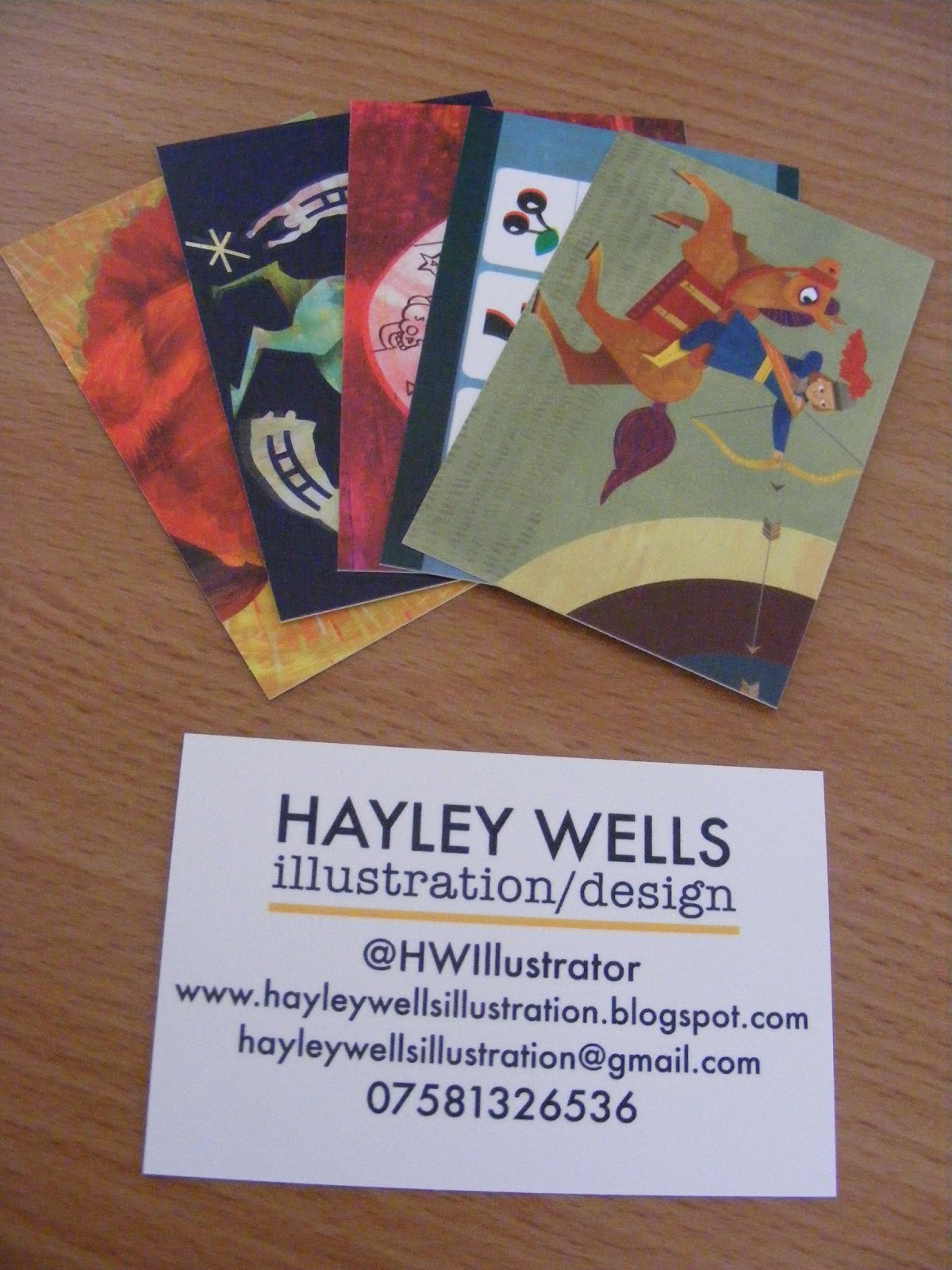 Hayley Wells Illustration: Business Cards