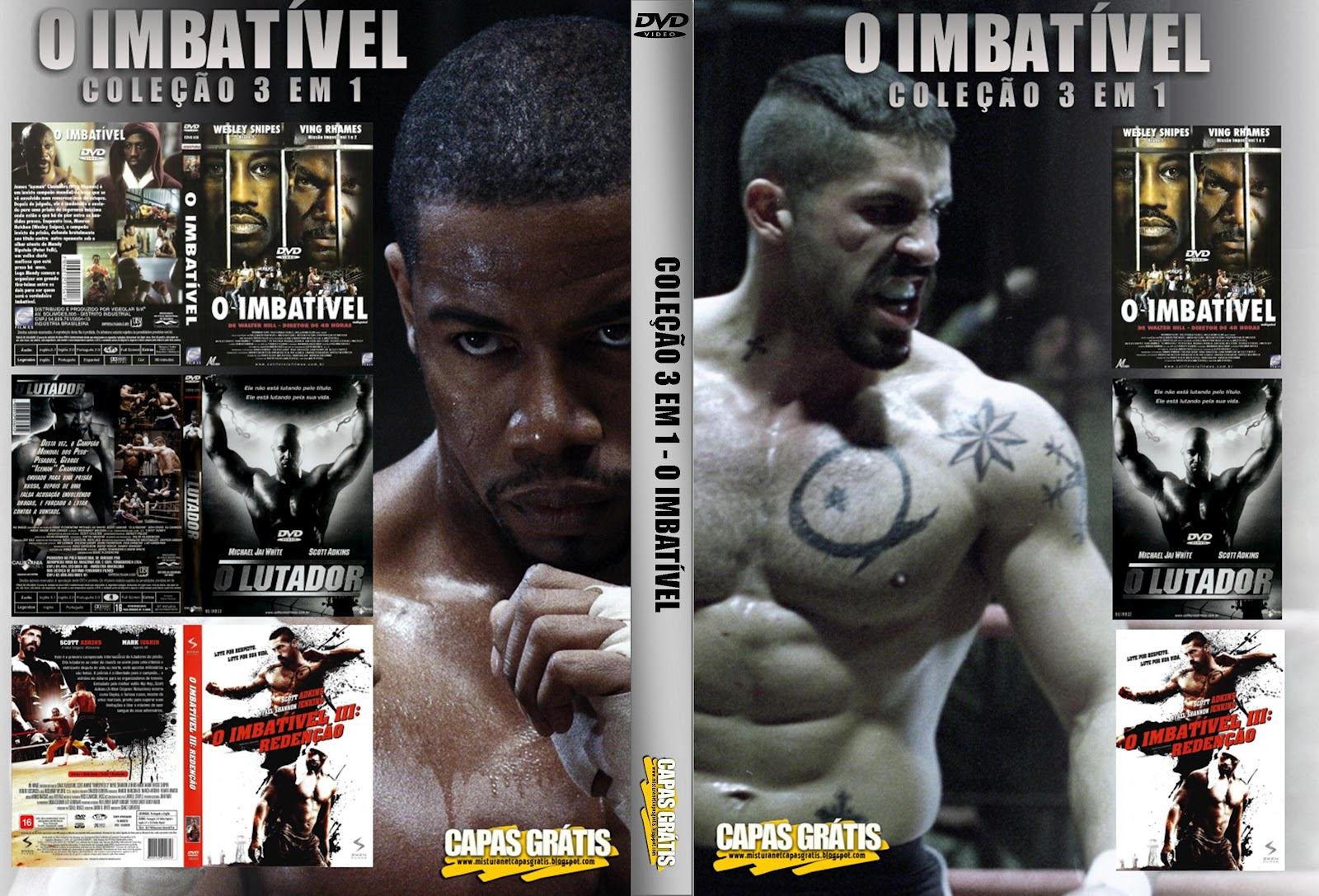 Imbatível 3 Best capas filmes ação: o imbatível 3 em 1
