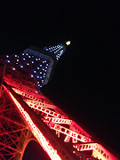 東京タワーって、実はいろいろなモノに阻まれていて――、直線距離はとても近いの . (bb )