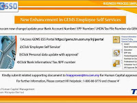 New Enhancement in GEMS Employee Self Service 2014