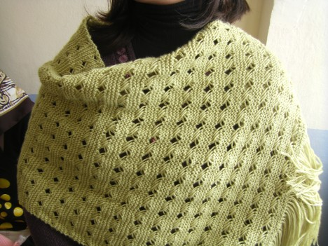 Knitted Shawl Patterns Free : free knitting pattern: new rectangular knitting shawl patterns