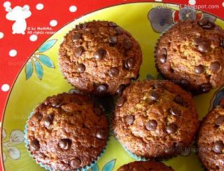 Bananenmuffin mit Schokoladenstücke