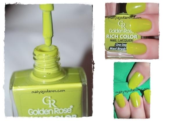 yeşil oje, golden rose, makyaj odamm, yeşil oje