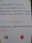 Finale ItaliaSpagna, maxischermo agli Usi Civici.
