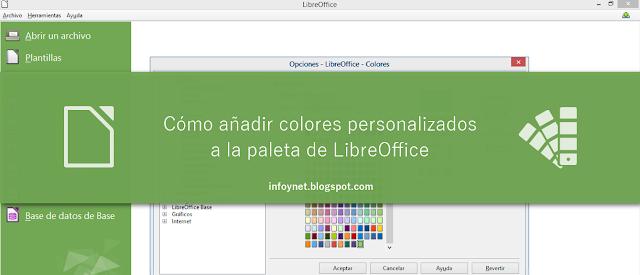 Cómo añadir colores personalizados a la paleta de LibreOffice