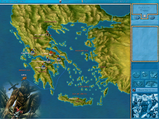 Zeus: Master of Olympus - Map Screenshot