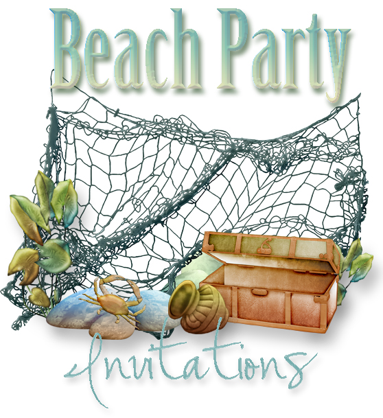 This is a graphic of Epic Beach Party Invitations Free Printable