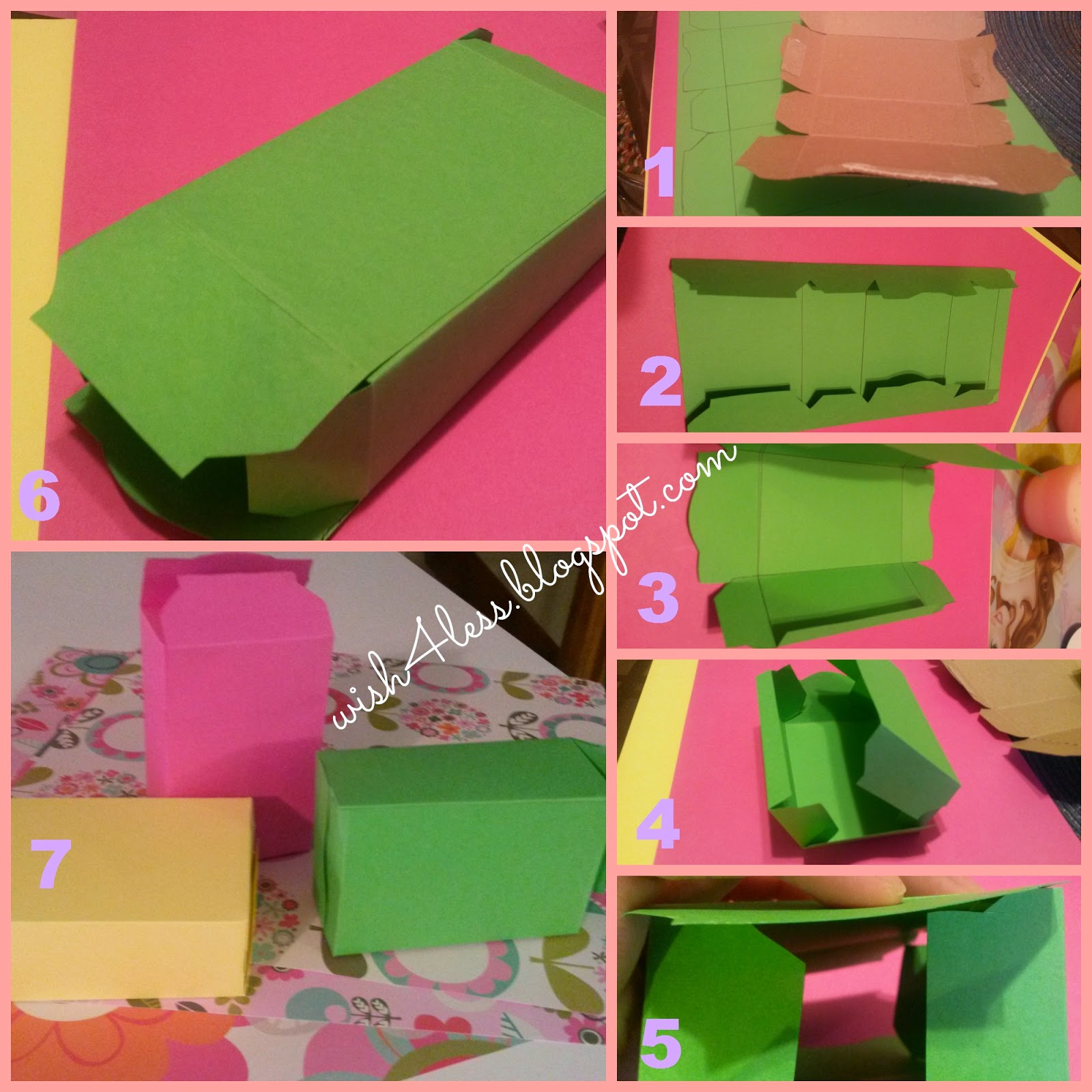 Wish4less easy diy gift boxes for Diy colored paper