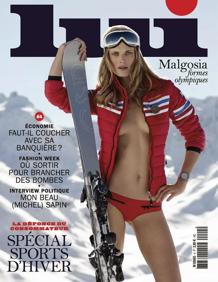 Magazine cover : Malgosia Bela Magazine Photoshoot Pics on Lui Magazine February 2014 Issue