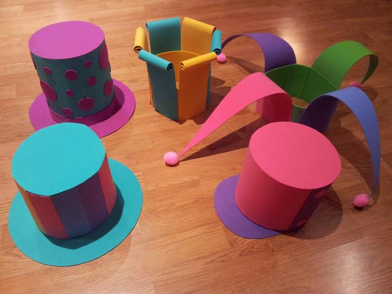 Cumplea os y fiestas infantiles divertidos gorros para for Decoracion de goma eva para cumpleanos