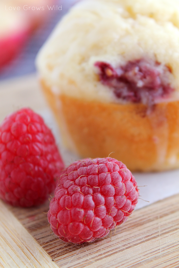 Lemon Raspberry Muffins by Love Grows Wild www.lovegrowswild.com # ...