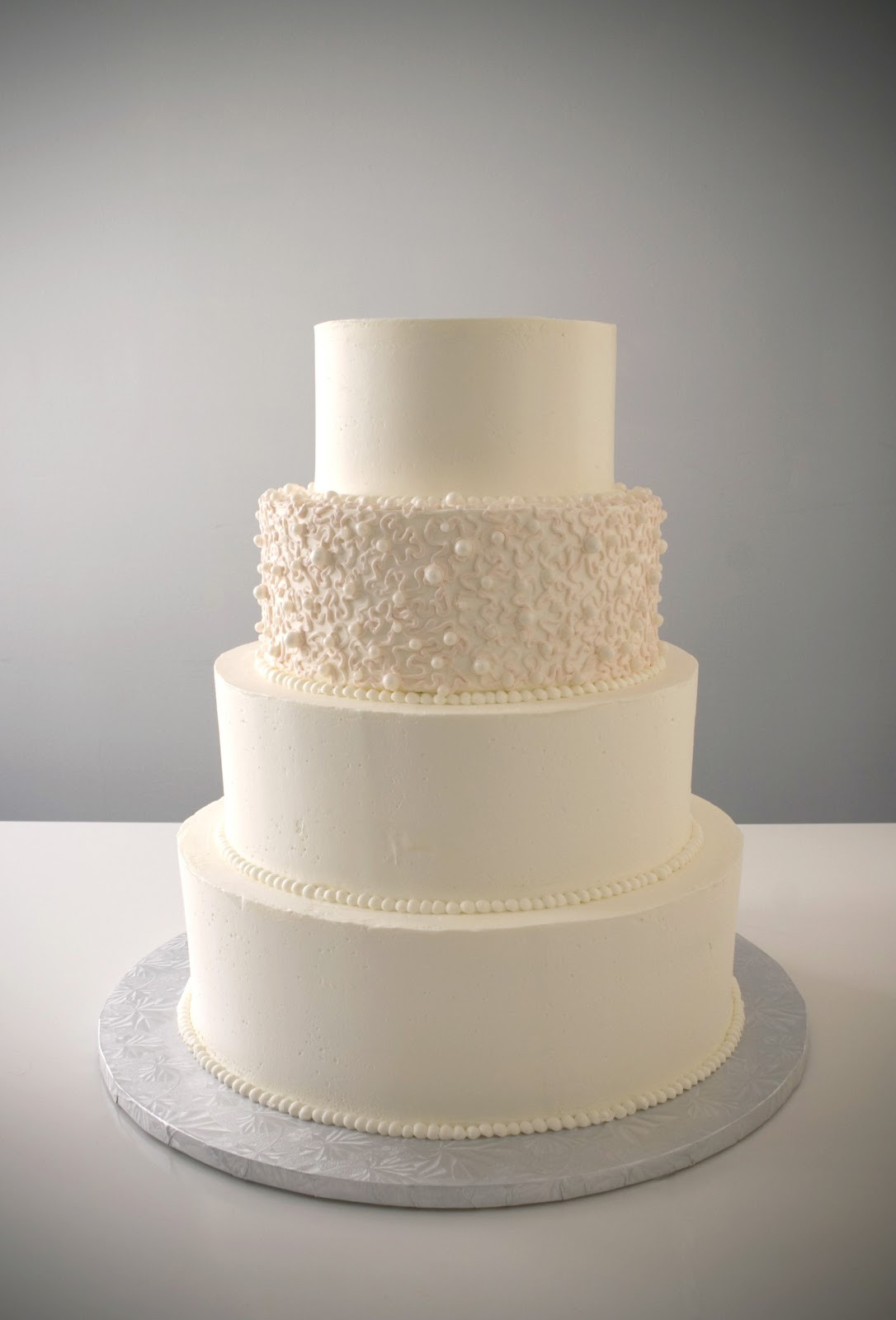 Simple Wedding Cakes 23 Spectacular Pearl Dot design with