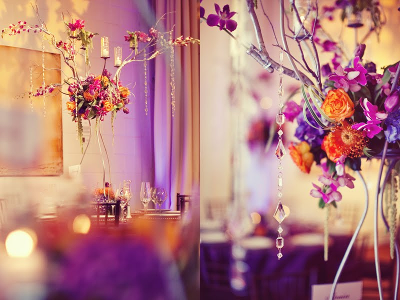 Color meaning purple All my wedding flowers