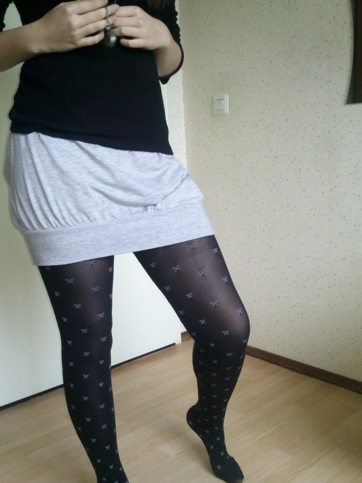 Gedragen panty