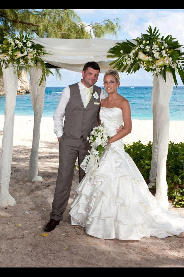 Jo And Allan At Foul Bay Beach Orchid World Posted By Barbados Weddings