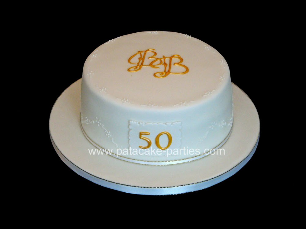 Golden Wedding Anniversary Cake Essex