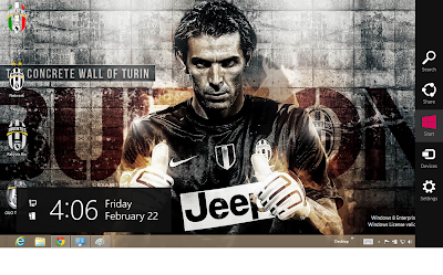 2013 Juventus Fc Windows 8 Theme, Bufon Wallpaper