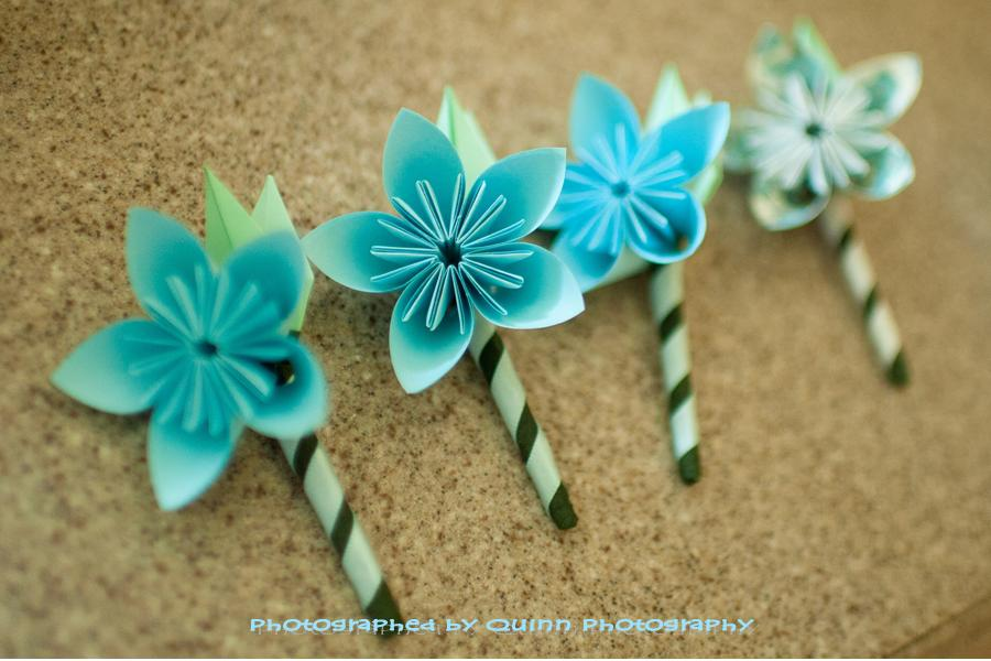how to make paper flower boutonniere