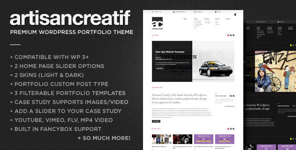 Artisan Creatif Wordpress Theme Free Download by ThemeForest.