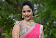 Anasuya in half saree at Maa Mahalakshmi