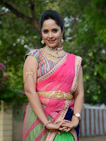 Anasuya in half saree at Maa Mahalakshmi-cover-photo