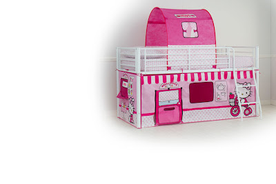 Hello Kitty bunk bed play house tent design
