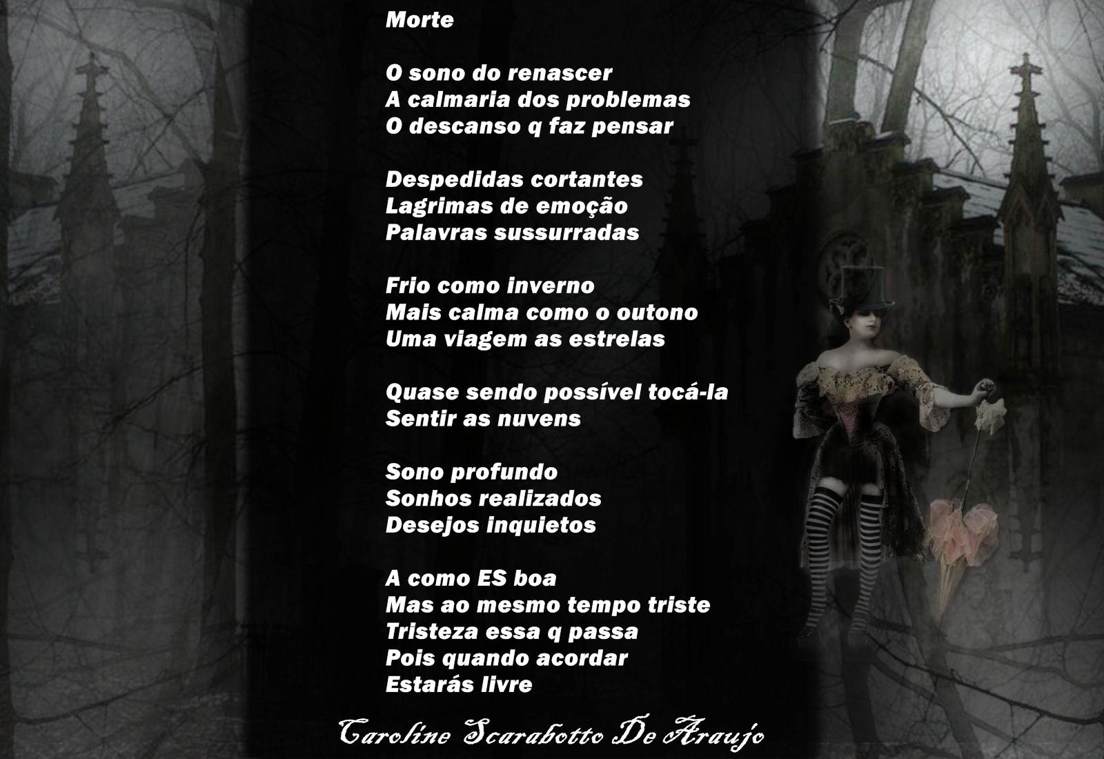 Suficiente Carol Poemas e Poesias: Carol Poemas e Poesias -Morte DF97