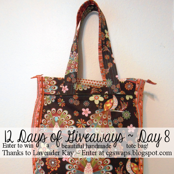 12 Days of Giveaways ~ Day 8: Handmade Tote Bag