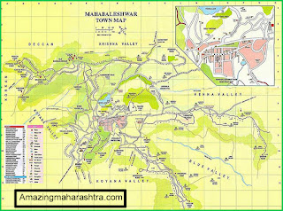 Map of Mahabaleshwar Town