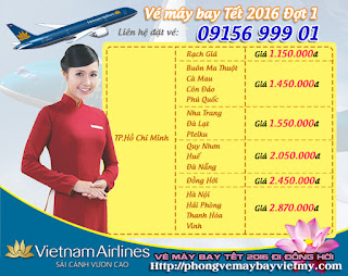 Ve may bay Tet 2016 di Phu Quoc