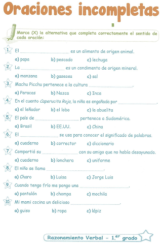 http://razonamiento-verbal1.blogspot.com/2013/12/oraciones-incompletas-1-grado-de.html