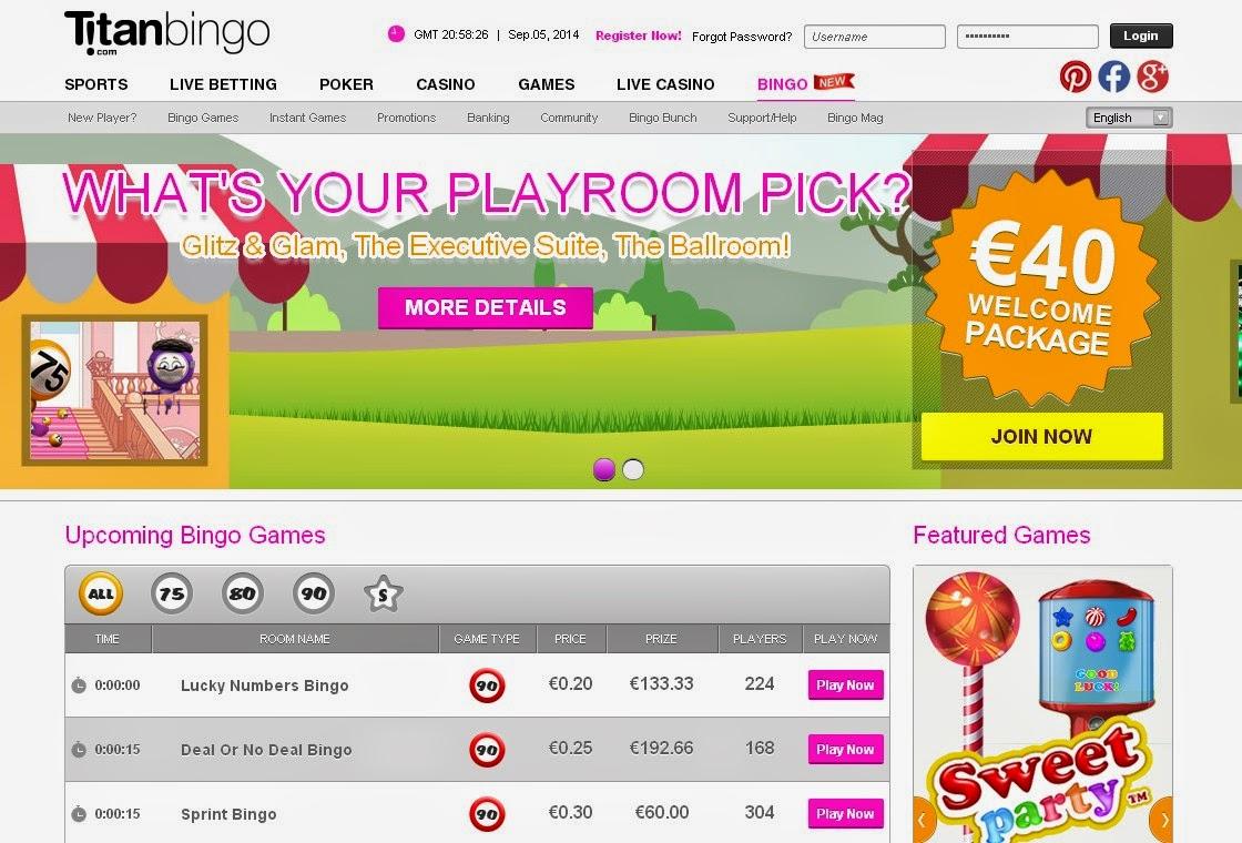 Titan Bingo Screen