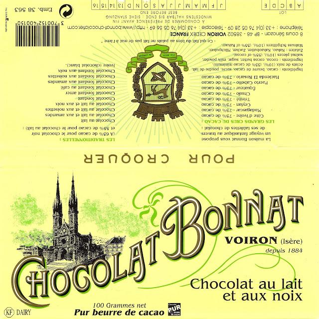 tablette de chocolat lait gourmand bonnat lait aux noix