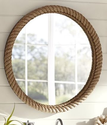pottery barn rope mirror