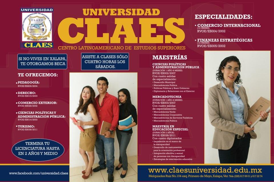 Universidad claes for Universidades en xalapa
