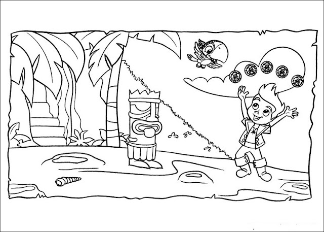 Jake and the neverland pirates peter pan coloring pages for Jake and the never land pirates coloring pages