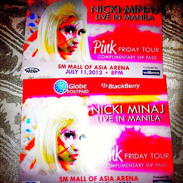 Nicki Minaj Pink Friday Tour Ticket Design Photo