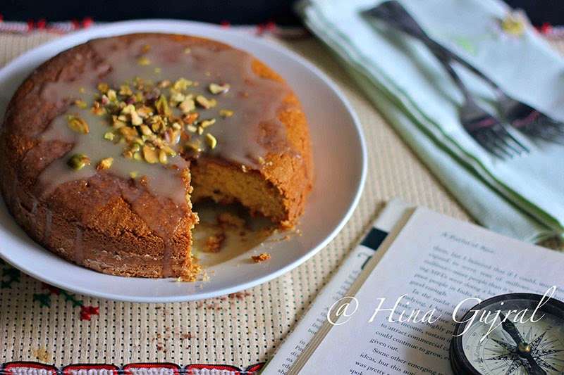 Moist and delicious cardamom spiced eggless semolina cake recipe. Find how to make eggless semolina cake in few simple steps