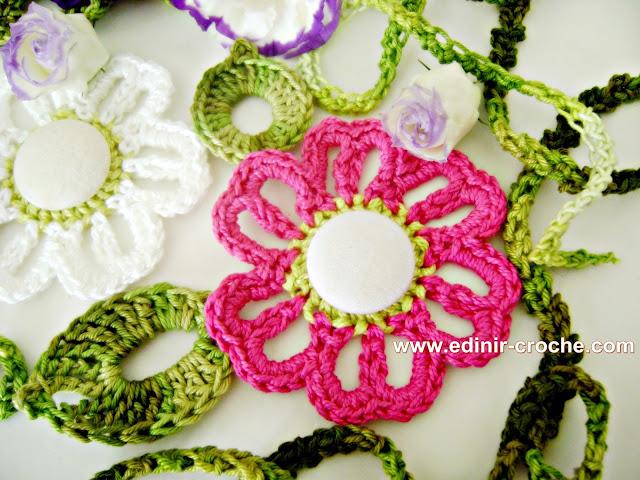 dvd flores em croche 2 flor em correntes 2 da coleção aprendi e ensinei com edinir-croche video aula blog loja