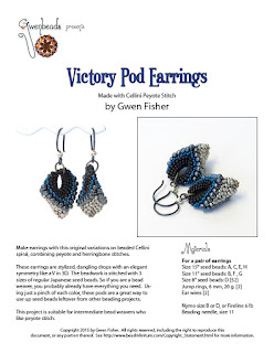 Cellini Spiral Beaded Earrings